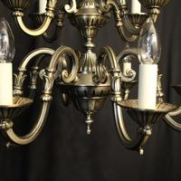 French Silver Gilded 12 Light Chandelier (9 of 10)