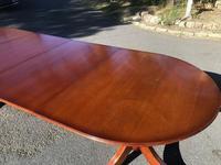 Quality Mahogany Twill Pillar Extending Dining Table (14 of 15)