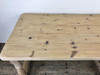 Vintage Antique Pine Farmhouse Kitchen Table (13 of 18)