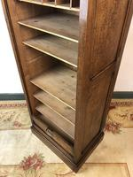 Antique French Tambour Fronted Oak Filing Cabinet (8 of 10)