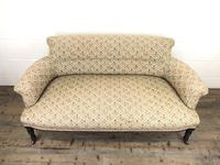 Victorian Three Piece Suite with Gold Floral Upholstery (3 of 26)