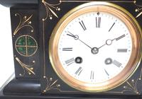 Very Fine French Slate & Marble Mantel Clock Classic 8 Day Striking Mantle Clock (6 of 13)
