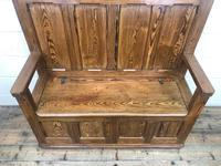 Rustic Pitch Pine Settle Bench (4 of 8)