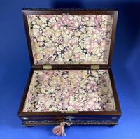 Regency Rosewood Table Box with Brass Foliate Inlay (12 of 12)