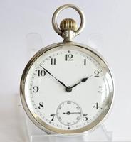 Antique 1919 Swiss Silver Pocket Watch (2 of 6)