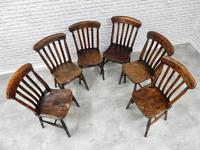 Matched Set of 6 Windsor Kitchen Chairs c.1890 (5 of 7)