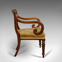 Antique Serpentine Armchair, English, Mahogany, Elbow Seat, Regency c.1820 (4 of 11)