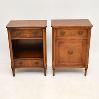 Pair of Georgian Style Burr Walnut Bedside Cabinets c.1930 (2 of 11)