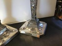Fine Pair Solid Silver Victorian Candlesticks (7 of 7)
