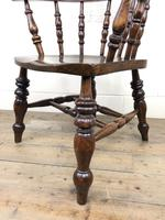 19th Century Ash and Elm Smoker's Bow Chair or Captain's Armchair (7 of 11)