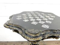 Antique Lacquered and Inlaid Chess Table (5 of 10)