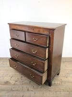 Large 19th Century Inlaid Mahogany Chest of Drawers (10 of 12)