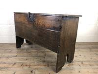 Early 18th Century Six Plank Oak Coffer (7 of 20)