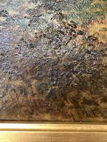 Antique Signed Victorian Landscape Oil Painting of Flock of Sheep (7 of 10)