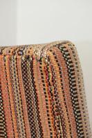 Antique Oak Legged  Afghan Kelim Covered Chair (10 of 10)