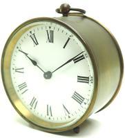 French Drum Carriage Clock Rare Enamel Dial Drum Case Mantel Clock Platform Balance (6 of 8)