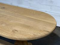French Bleached Oak Monastery Dining Table (14 of 30)