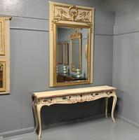 Large French Paint & Gilt Trumeau Mirror (10 of 11)