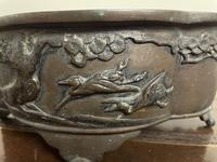 Early 20th Century Japanese Bird Bronze Bowl (3 of 7)