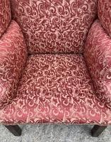 Victorian Mahogany Framed Wing Armchair (11 of 15)