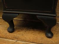 Antique Black Painted Writing Desk, Gothic Shabby Chic (4 of 18)