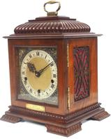 Vintage English Westminster Chime Bracket Clock – Solid Mahogany Musical Mantel Clock (4 of 10)