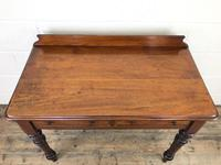 Antique Victorian Mahogany Two Drawer Side Table (11 of 15)