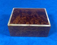 1920s Burr Cedar Box Edged in Mother of Pearl (7 of 9)