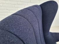 "Danish design ""Teddy bear"" chair, 70s, wool, teak wood, reupholstered (6 of 16)"