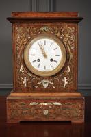French Brass Inlaid Rosewood Mantle Clock (5 of 14)
