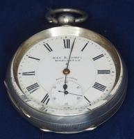 Antique Silver Pocket Watch Keyless Wind Open Face Pocket Watch Kay & Comp (3 of 10)