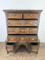 18th Century Antique Oak Chest on Stand (3 of 9)