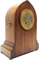 Fantastic French Inlaid Lancet Mantel Clock Multi Wood inlay 8 Day Striking Mantle Clock (9 of 10)