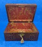 Victorian Mahogany Box with Tunbridge Ware Bands (8 of 15)