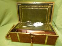 Exceptional FULLY Brass Bound Amboyna Writing Box c.1850 (2 of 15)