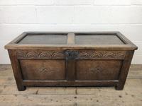 Early 19th Century Antique Oak Coffer Blanket Box (2 of 19)