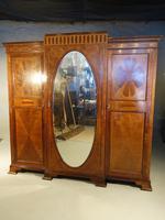 Fine Quality Early 20th Century Mahogany Breakfront Wardrobe (3 of 5)