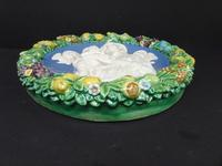 Cantagalli Large Round Plaque Arts & Crafts Style c.1890 (3 of 6)