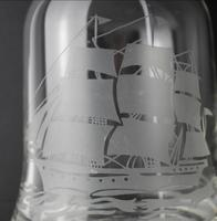 Clear Crystal Glass Decanter Depicting Caravelle (3 of 5)