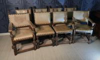 Set of Eight Oak Dining Chairs (2 of 14)