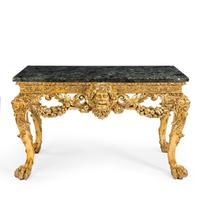 Imposing Victorian giltwood console table in the manner of William Kent (2 of 8)
