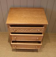 Small Limed Oak Chest of Drawers (5 of 10)