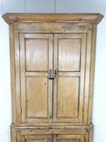 Antique Pine Free Standing Corner Cupboard (2 of 10)