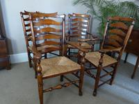 Set of Six (4+2) Ladderback Dining Chairs (2 of 4)