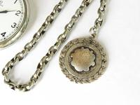 1938 Omega pocket watch and chain (4 of 5)