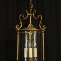 French Gilded Triple Light Convex Hall Lantern (10 of 10)