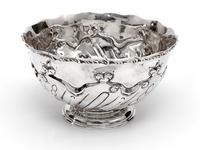 Edwardian Thomas Bradbury & Son Silver Rose Bowl (2 of 3)