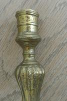 Fine Pair of 18th Century French Brass Candlesticks Seamed (10 of 11)