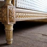 Louis XVI Style Bed with Upholstered Panels (10 of 10)