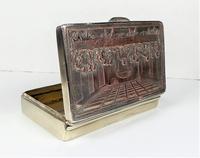 Rare French F Morel Solid Silver Last Supper Scense Lud Snuff Box (5 of 18)